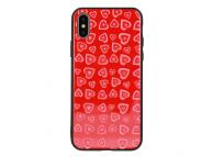 Husa TPU Vennus Heart cu spate din sticla pentru Samsung Galaxy S8 G950, Rosie, Bulk