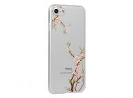 Husa TPU OEM Floral Cherry pentru Samsung Galaxy A7 (2018) A750, Multicolor - Transparenta, Blister