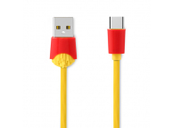 Cablu Date si Incarcare USB la USB Type-C Remax Chips RC-114a, 1 m, Galben, Blister