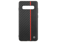 Husa Piele Tellur Carbon pentru Samsung Galaxy S10+ G975, Neagra, Blister TLL121915