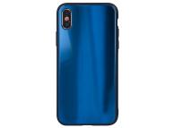 Husa TPU OEM Aurora cu spate din sticla pentru Samsung J6 Plus (2018) J610, Bleumarin, Bulk