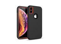 Husa Plastic - TPU OEM Defender 3in1 pentru Apple iPhone 7 Plus / Apple iPhone 8 Plus, Neagra, Bulk