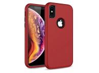 Husa Plastic - TPU OEM Defender 3in1 pentru Apple iPhone XR, Rosie, Bulk