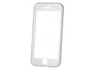 Husa Aluminiu OEM cu protectie full din sticla securizata pentru Apple iPhone 6 / Apple iPhone 6s, Argintie, Bulk