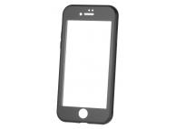 Husa Aluminiu OEM cu protectie full din sticla securizata pentru Apple iPhone 7 / Apple iPhone 8, Neagra, Bulk