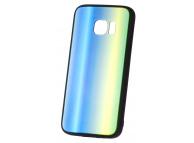 Husa TPU OEM Rainbow2 cu spate din sticla pentru Samsung Galaxy A6 (2018) A600, Multicolor, Bulk