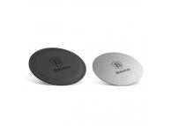 Set sticker magnetic telefon pentru Suport Auto Baseus Argintiu  Blister