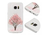 Husa TPU OEM Cherry Tree pentru Samsung Galaxy S9 G960, Multicolor - Transparenta, Bulk