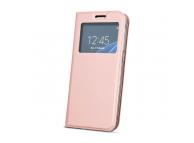 Husa Piele OEM Smart Look pentru Samsung J6 Plus (2018) J610, Roz Aurie, Bulk