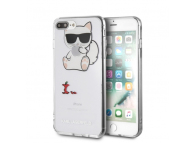 Husa Plastic Karl Lagerfeld Choupette Fun Apple Apple iPhone 7 Plus / Apple iPhone 8 Plus, Transparenta, Blister KLHCI8LCFA