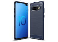 Husa TPU OEM Carbon pentru Samsung Galaxy S10+ G975, Bleumarin, Bulk
