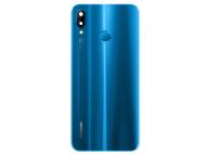 Capac Baterie Albastru cu geam camera si senzor amprenta, Swap Huawei P20 Lite