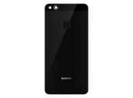 Capac Baterie Negru cu geam camera geam blitz si senzor amprenta, Swap Huawei P10 Lite