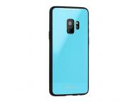 Husa TPU OEM cu spate din sticla pentru Samsung Galaxy A7 (2018) A750, Albastra, Bulk