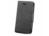 Husa Piele OEM Fancy pentru Samsung J6 Plus (2018) J610, Neagra, Bulk