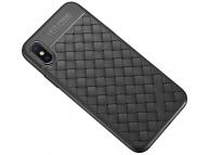 Husa TPU OEM Braided pentru Samsung Galaxy S8+ G955, Neagra, Bulk