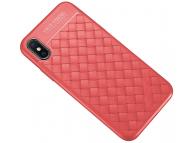 Husa TPU OEM Braided pentru Samsung Galaxy S8 G950, Rosie, Bulk