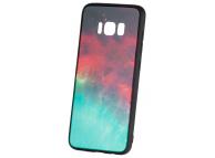 Husa TPU OEM Galaxy cu spate din sticla pentru Samsung Galaxy S8 G950, Multicolor, Bulk