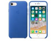 Husa Piele Apple iPhone 8, MRG52ZM/A,  Albastra, Blister