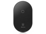 Sticker incarcare wireless Baseus Microfiber pentru telefon Apple Lightning, Negru, Blister