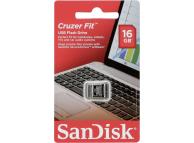 Memorie Externa SanDisk CRUZER FIT, 16Gb, USB 2.0, Argintie - Neagra, Blister SDCZ33-016G-G35