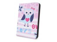 Husa Poliuretan GreenGo Little Owl pentru Tableta 10 inci, Dimensiuni interioare 265 x 195 mm, Multicolor, Bulk