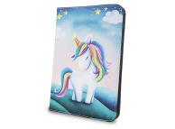 Husa Poliuretan GreenGo Unicorn pentru Tableta 7 inci - 8 inci, Dimensiuni interioare 210 x 140 mm, Multicolor, Bulk