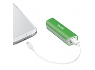Baterie Externa Powerbank Celly PB2600GN 2600 mA, 1 x USB, Verde, Blister