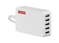 Incarcator retea USB NOONTEC Powa Hub, 25W, 5 Porturi USB, Alb, Blister