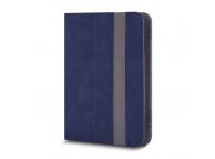 Husa Piele GreenGo Fantasia pentru Tableta 7 inci - 8 inci, dimensiuni interioare 210 x 140 mm, Bleumarin, Bulk