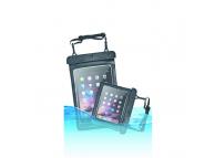 Husa Plastic OEM Waterproof 280x210mm pentru Tableta 10 inci - 9 inci, Neagra-Transparenta, Bulk