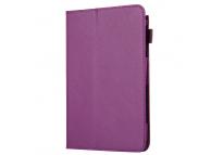 Husa Tableta Piele OEM Litchi pentru Samsung Galaxy Tab A 8.0, Mov, Bulk