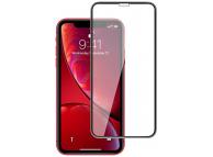 Folie Protectie Ecran Mocolo pentru Apple iPhone X / Apple iPhone XS, Sticla securizata, Full Face, Edge Glue, 9H, Neagra, Blister