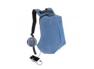 Rucsac textil Tellur Antifurt V2, cu port USB pentru Laptop,15.6 inci, Albastru TLL611212