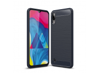 Husa TPU OEM Carbon pentru Samsung Galaxy M10, Bleumarin, Bulk