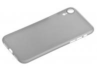 Husa Plastic OEM UltraSlim Frosted pentru Apple iPhone XR, Gri, Bulk