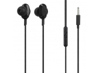 Handsfree Casti In-Ear Tellur Ebony, Cu microfon, 3.5 mm, Negru, Blister TLL162082