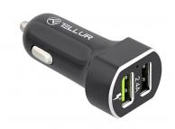 Incarcator Auto USB Tellur FCC6, QC3, 5.4A, 2 X USB, Negru, Blister TLL151191