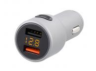 Incarcator Auto USB Tellur Fast charger CCY3 cu afisaj, 1 X USB Tip-C - 2 X USB, Argintiu, Blister TLL151161