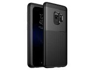 Husa Plastic - TPU OEM Airbag Antisoc pentru Samsung Galaxy S9 G960, Neagra, Bulk