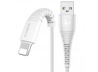 Cablu Date si Incarcare USB la Lightning Floveme, 1 m, Alb, Blister