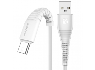 Cablu Date si Incarcare USB la USB Type-C Floveme, 1 m, Alb, Blister