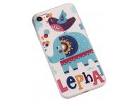 Husa TPU OEM Elephants and Birds pentru Apple iPhone 7 / Apple iPhone 8, Multicolor, Bulk