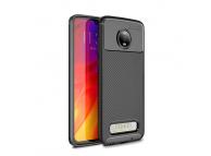 Husa TPU OEM Carbon fiber pentru Motorola Moto Z4 Play, Neagra, Bulk