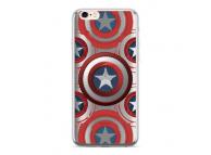 Husa TPU Marvel Captain America 014 pentru Huawei P20 Lite, Argintie, Blister