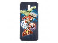 Husa TPU Marvel Avengers 001 pentru Samsung J6 Plus (2018) J610, Bleumarin, Blister