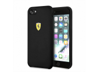 Husa TPU Ferrari pentru Apple iPhone 7 / Apple iPhone 8, Neagra, Blister FESSIHCI8BK