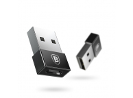 Adaptor Conversie USB la USB Type-C Baseus Exquisite CATJQ-A01, Negru, Blister
