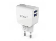 Incarcator Retea USB Ldnio DL-AC56, 2.1A, 2 X USB, Alb, Blister