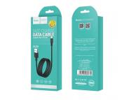 Cablu Date si Incarcare USB la MicroUSB HOCO Superior X29, 1 m, Negru, Blister